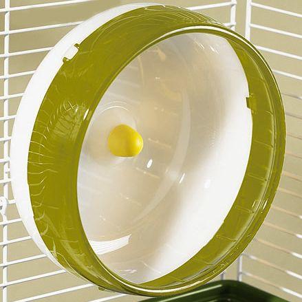 Rodinha de Grade Spin 21cm para Hamster Eleva Mundi - Amarela