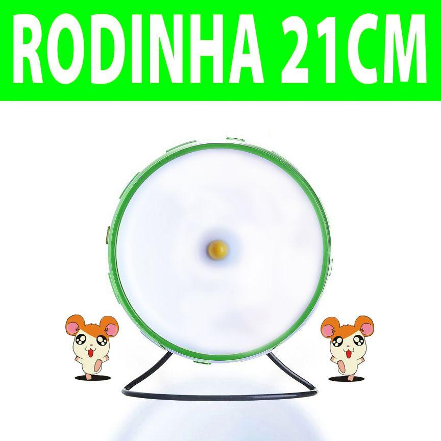 Rodinha de Grade Spin 21cm para Hamster Eleva Mundi - Verde