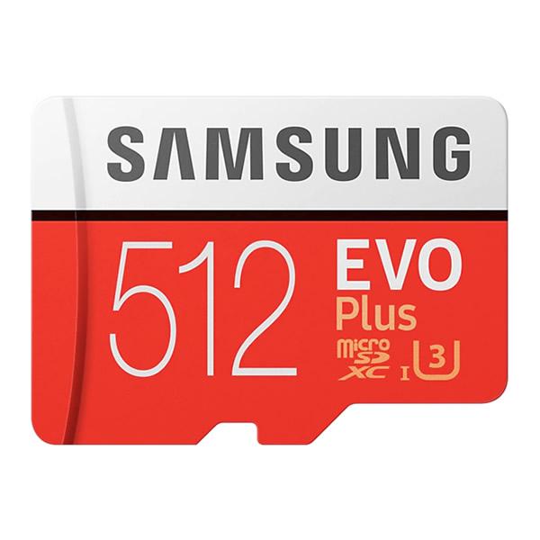 Cartão de memória 512GB MicroSDXC Samsung Evo Plus, MicroSD