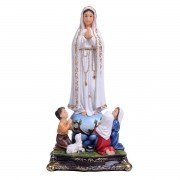Imagem de Nossa Senhora de Fátima com Pastorinhos - Bizantina