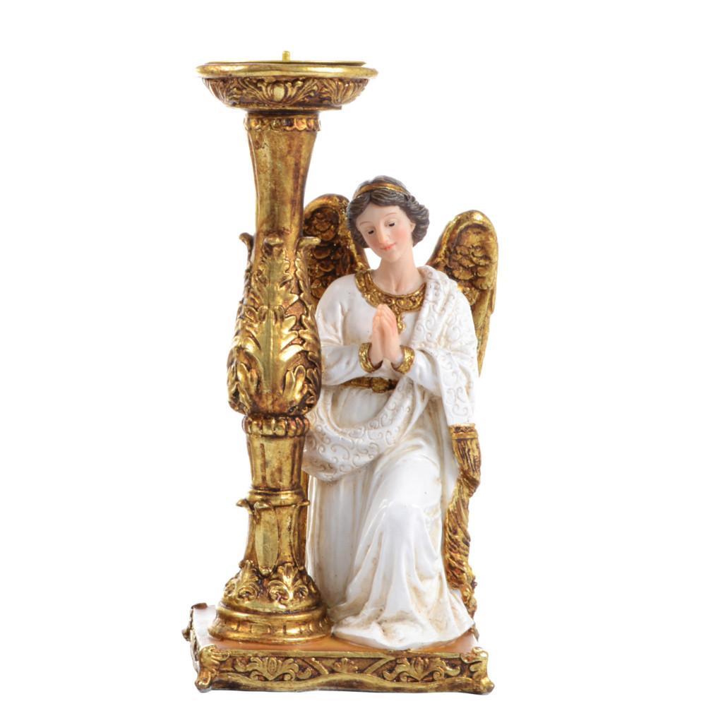 Anjo com Castiçal - 28 cm