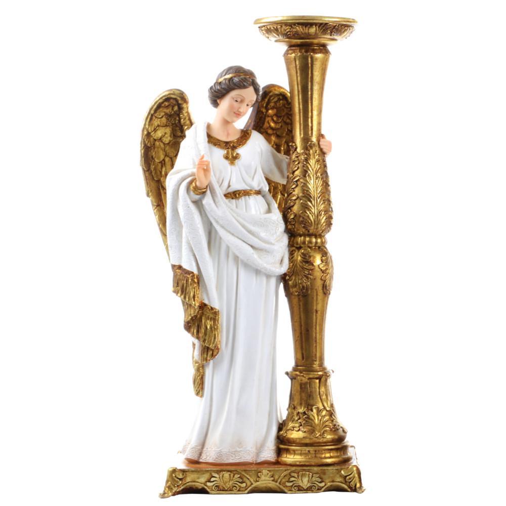 Anjo com Castiçal - 24 cm