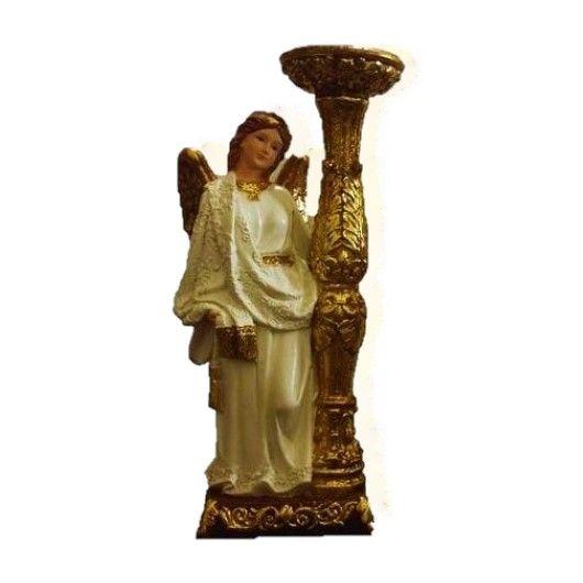 Anjo com Castiçal - 23,5 cm