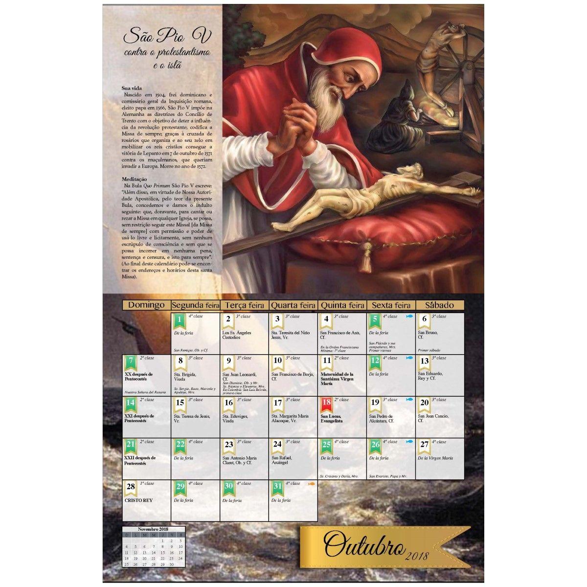 Calendário Litúrgico 2018 - Fraternidade Sacerdotal São Pio X