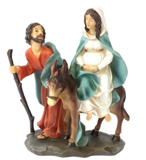 Imagem da Sagrada Familia a caminho de Belém
