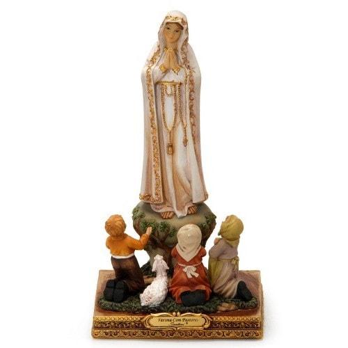 Imagem de Nossa Senhora de Fátima com Pastorinhos - Italiana