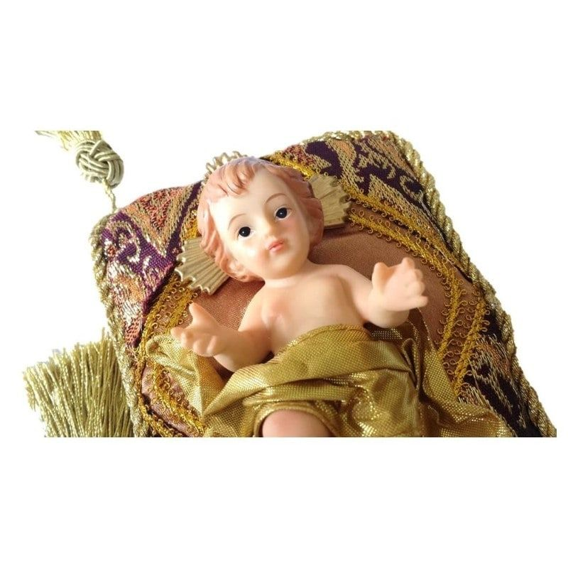 Imagem Menino Jesus com Almofada - 12,5 cm