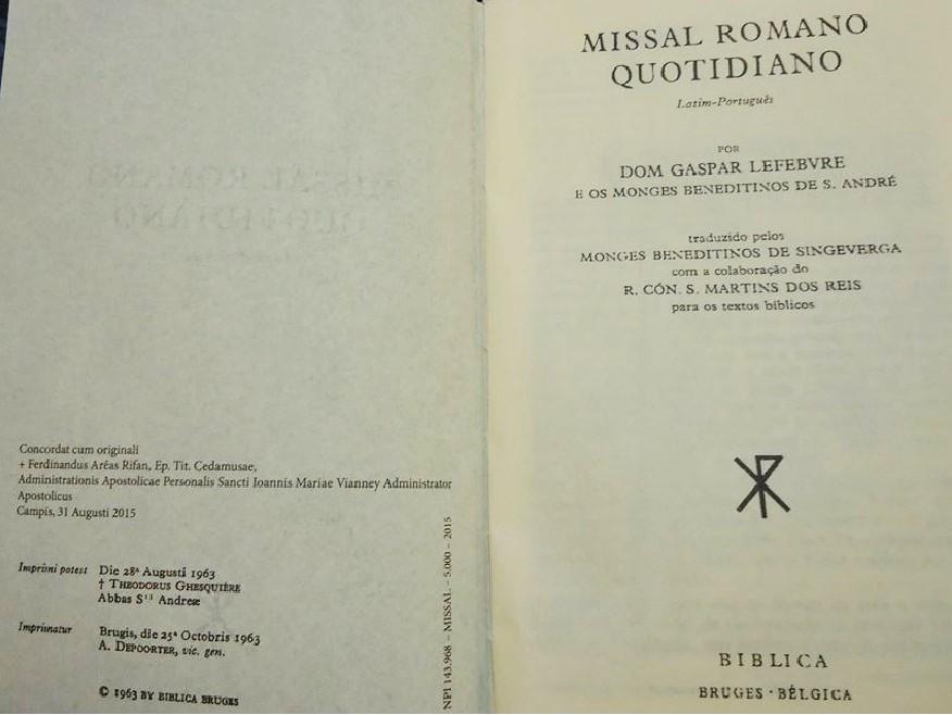 Missal Romano Quotidiano - 1963 (Latim-Português)