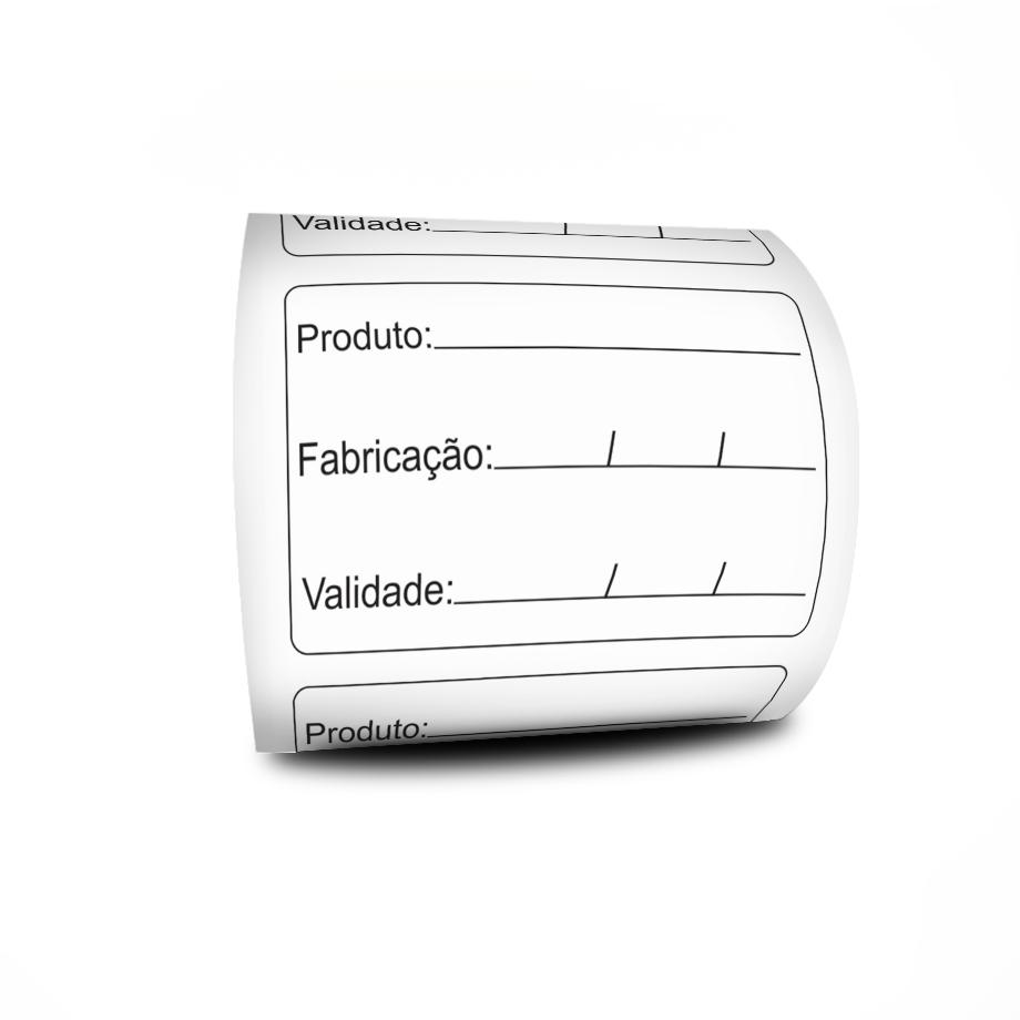 Etiquetas Adesivas Prazo de Validade 60x40 Couchê  3 Linhas Milheiro