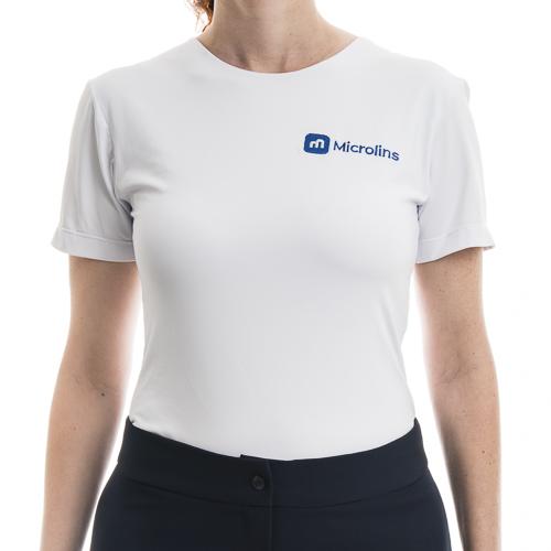 d79d78ec0 Camiseta Feminina Suplex Branca - Uniformes Microlins