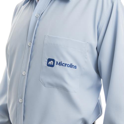49316284d Camisa Social Masculina Manga Longa  - Uniformes Microlins