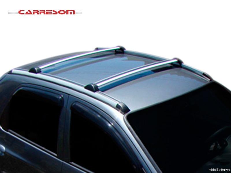 Rack Bagageiro De Teto Prisma Aluminio Preto