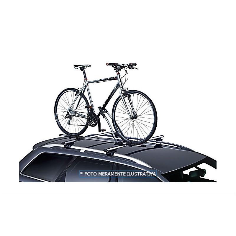 Rack Transbike de Teto Suporte 01 Bicicleta  Aluminio C/ Trava