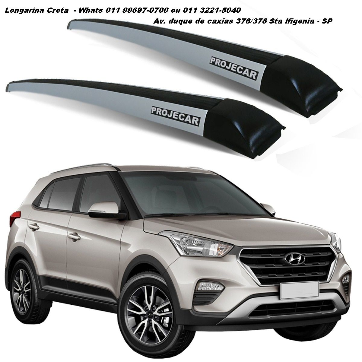 Rack De Teto Longarina Hyundai Creta