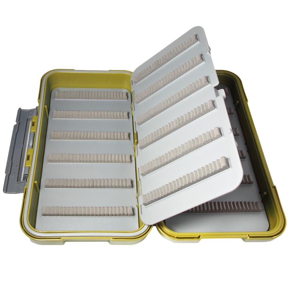 Caixa para Moscas Xplorer Deluxe Waterproof Fly Box Oliva