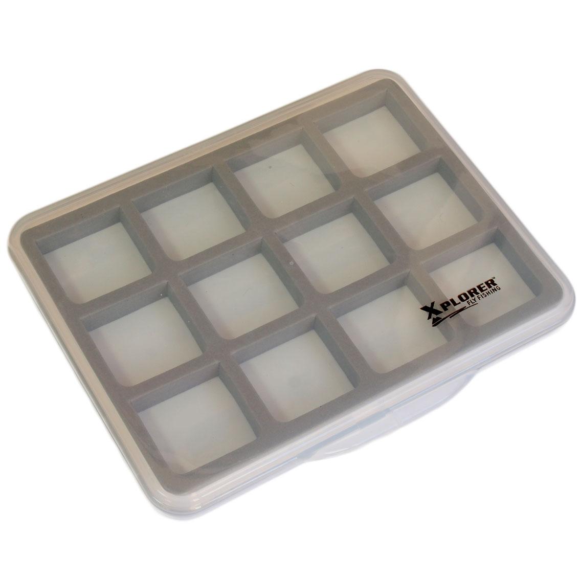 Caixa para Moscas Xplorer Slimline Magnetic 12 Fly Box (13 x 10,7 cm)