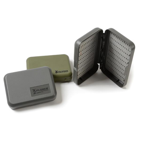 Caixa para Moscas Xplorer Slit Box With Center Leaf
