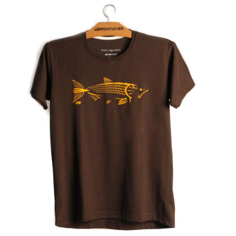 Camiseta For Fisher Estampa Dourado Tribal