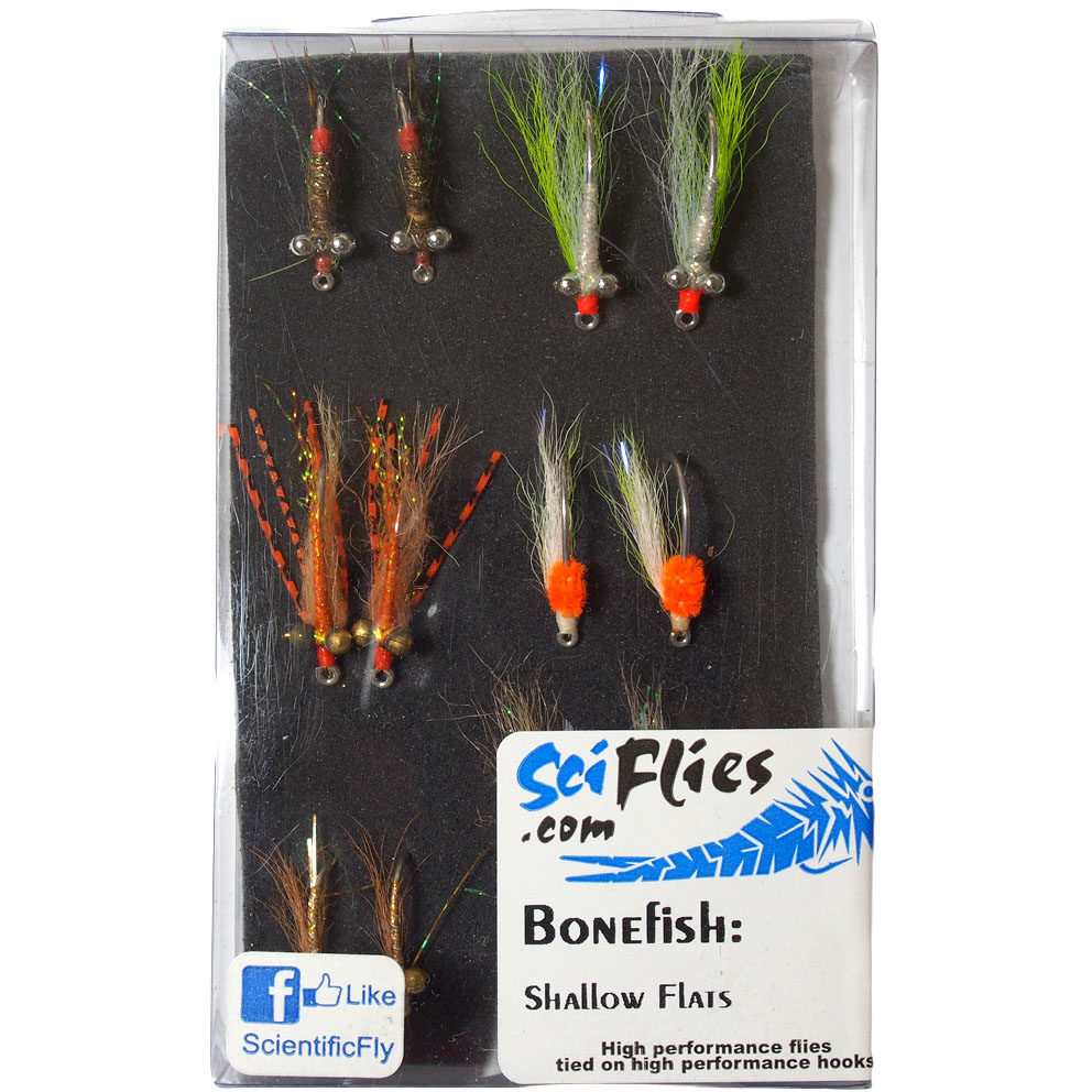 Kit de Moscas Bonefish Shallow Flats SciFlies
