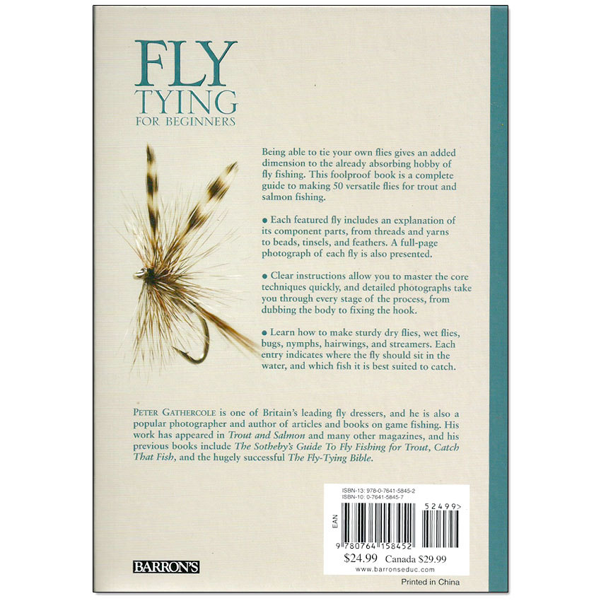 Livro Fly Tying for Beginners (Peter Gathercole)
