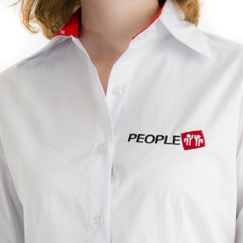Camisa Social Feminina Manga Longa - Uniformes People 8bdba297c568f