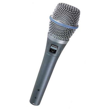 MICROFONE SHURE CARDIÓIDE PARA VOCAL - BETA 87C