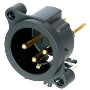Conector Neutrik Xlr Macho De Painel - Pcb - NC3MAAV-0