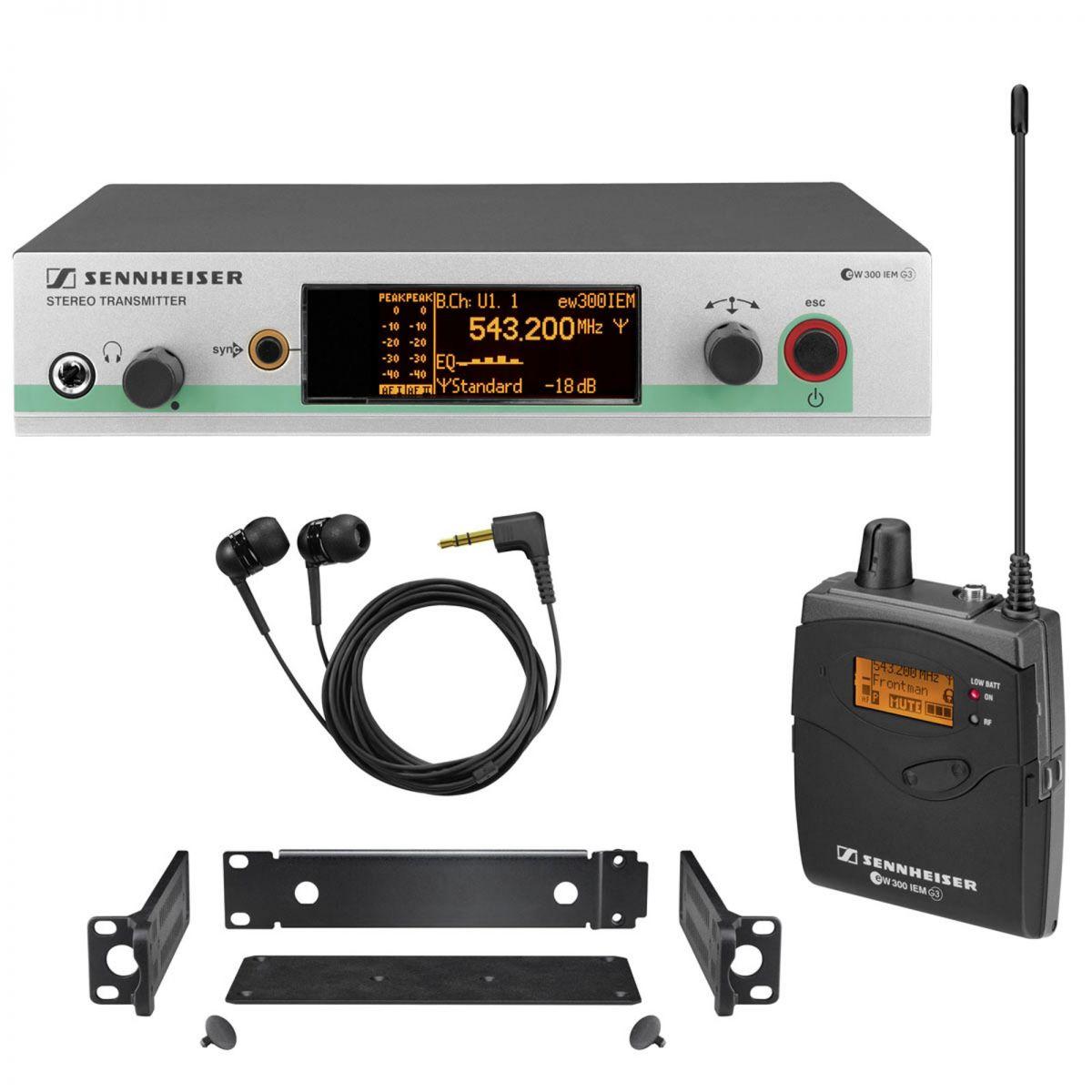Sistema  In Ear Sennheiser  Profissional Transmissor e Receptor - Ew300 G3