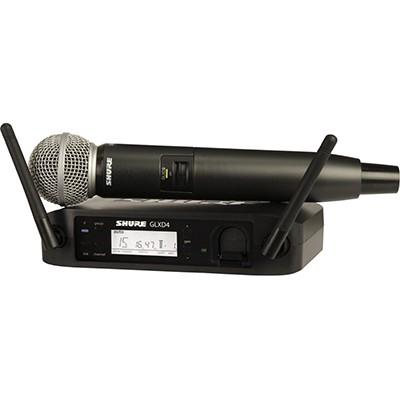 Microfone Sem Fio Shure GLX-D Bastão Digital - GLXD24/SM58
