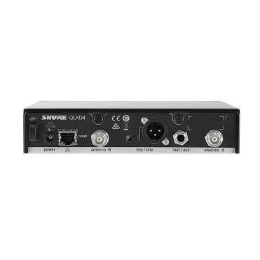 Receptor para Microfone Sem fio Sistema QLXD Shure  - QLXD4