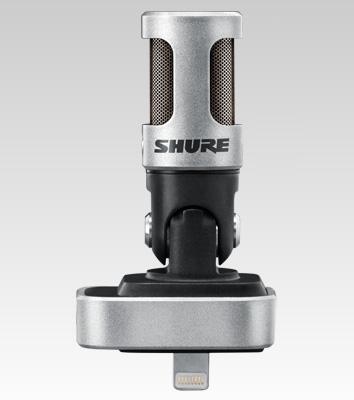 Microfone Movel Shure condensador estéreo digital para iPhone, iPod e iPad - MV88