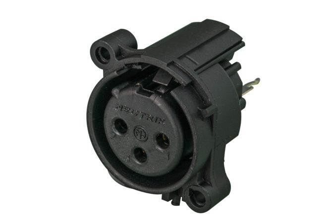 Conector Neutrik Xlr Fêmea De Painel - PCB - Nc3faav-0