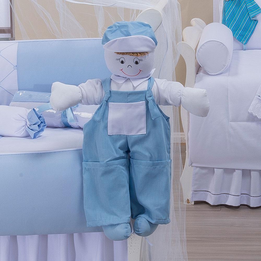 Boneco Porta Fraldas Realeza Azul