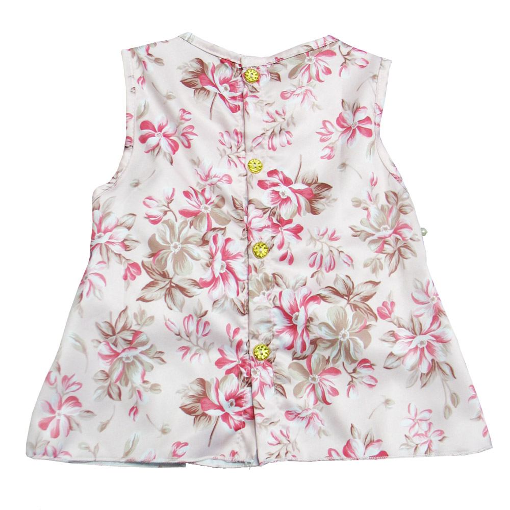 Conjunto Floral com Detalhe em Pérola- 2 peças