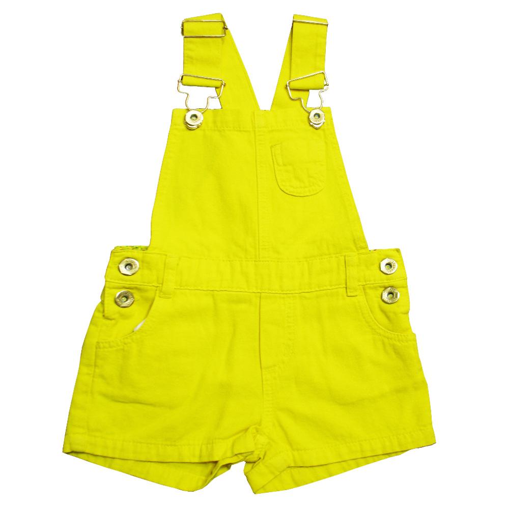 Jardineira Jeans Amarela