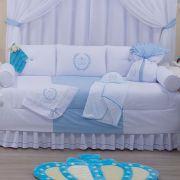 Kit Bicama 06 Peças 100% Algodão Realeza Azul