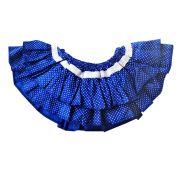 Calcinha Tapa Fralda Azul Royal com Poá
