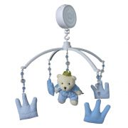 Móbile Urso Rei Azul Bebê