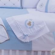 Manta de Pique Thed Azul 100% Algodão com Lasie