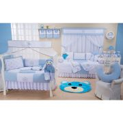 Quarto Completo Thed Azul Bebê 21 peças 100% Algodão Padrão Americano