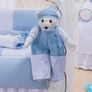 Urso Porta Fraldas Thed Azul