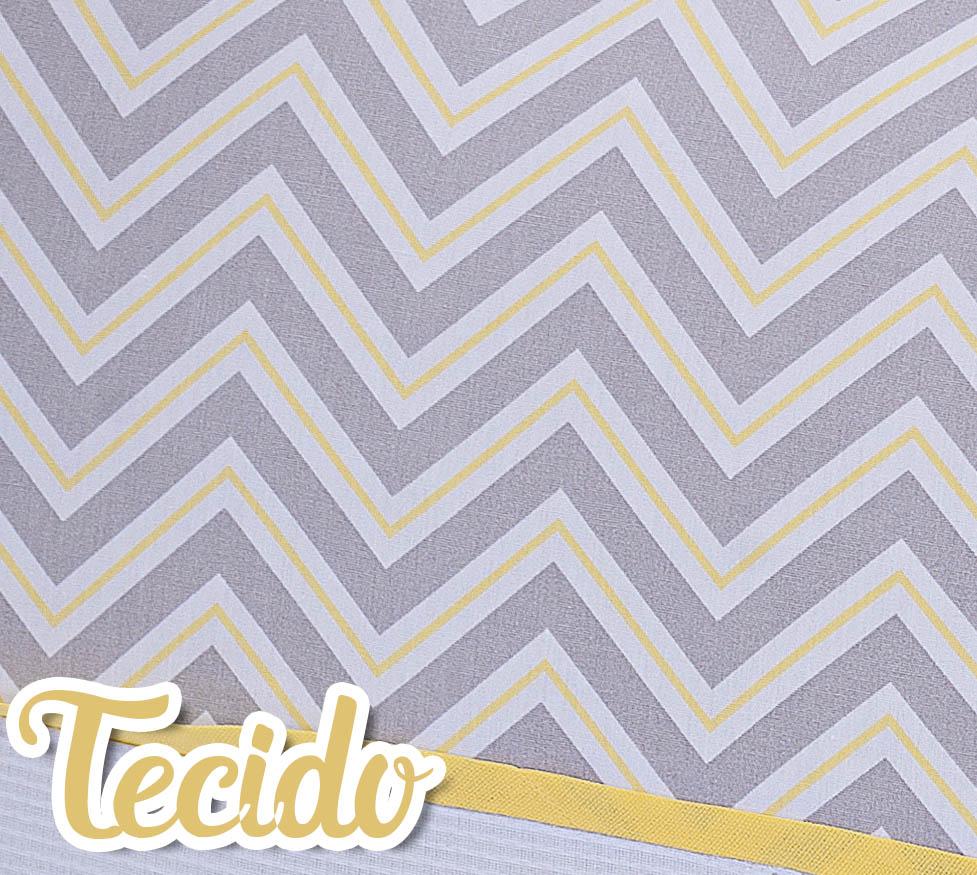 Kit de Berço Rolinhos Chevron Amarelo 4 peças
