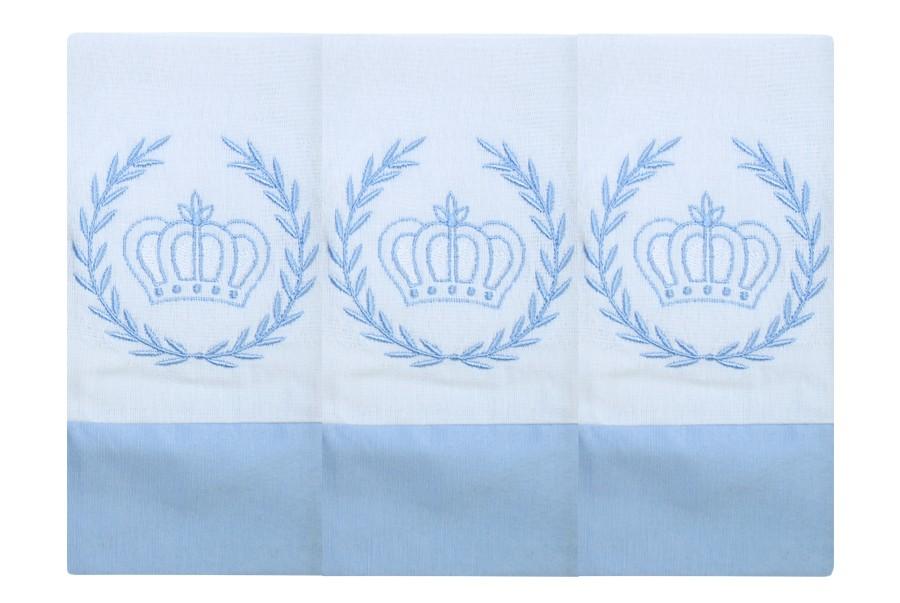 Fralda de Boca  03 Peças - Realeza Azul