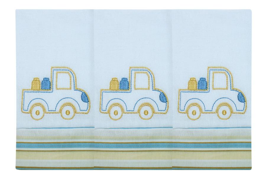 Fralda de Boca  03 Peças - Transporte (Caminhão)
