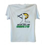 Camiseta Atletas de Cristo branca manga curta modelo  Futebol