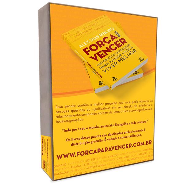 Livro Força Para Vencer - Pacote Missional com 10 Unidades