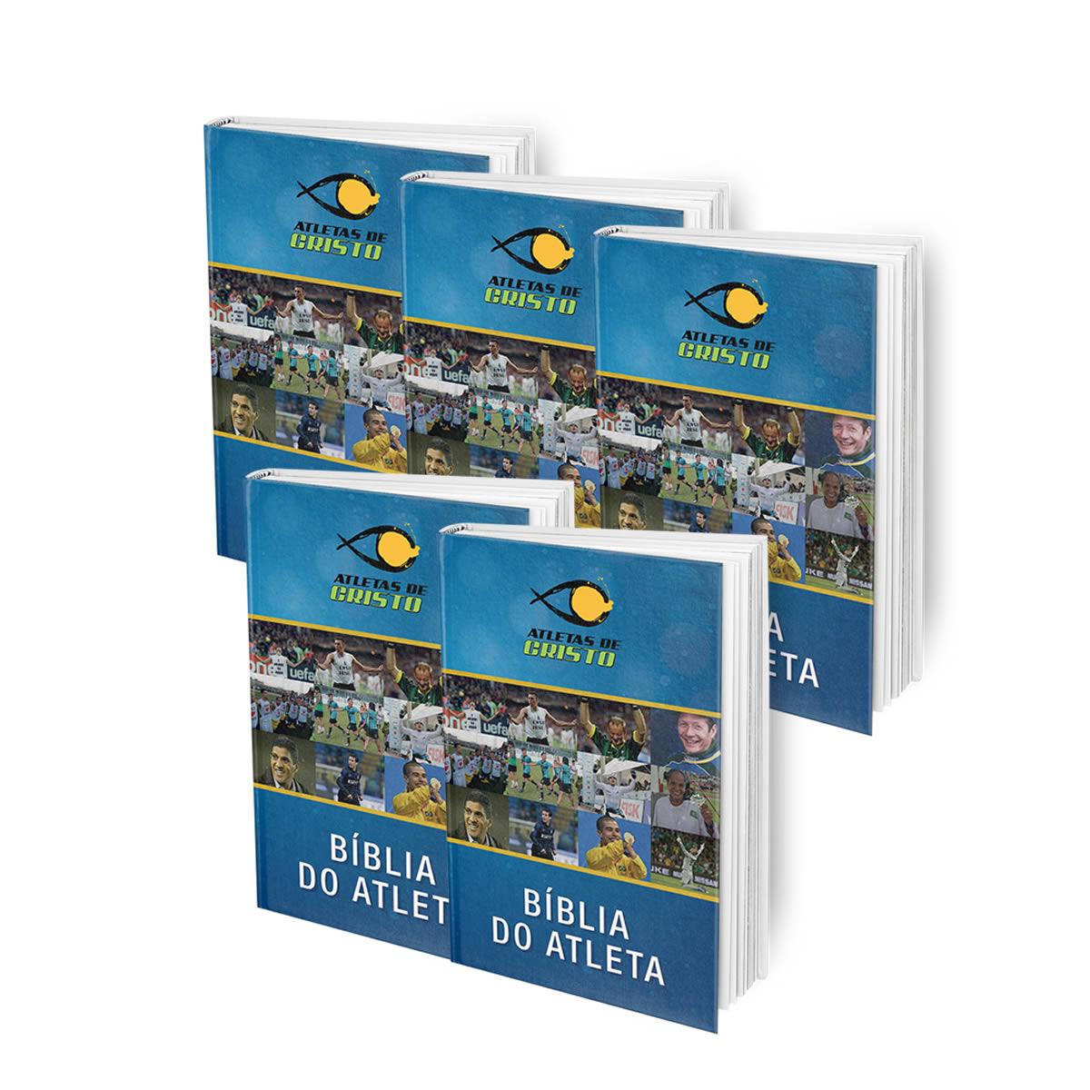 5 BÍBLIAS ATLETAS DE CRISTO  - FRETE GRÁTIS!