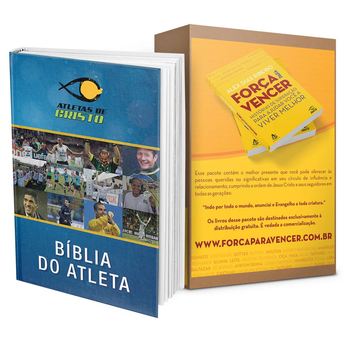 BÍBLIA ATLETAS DE CRISTO + PACOTE MISSIONAL - FRETE GRÁTIS!