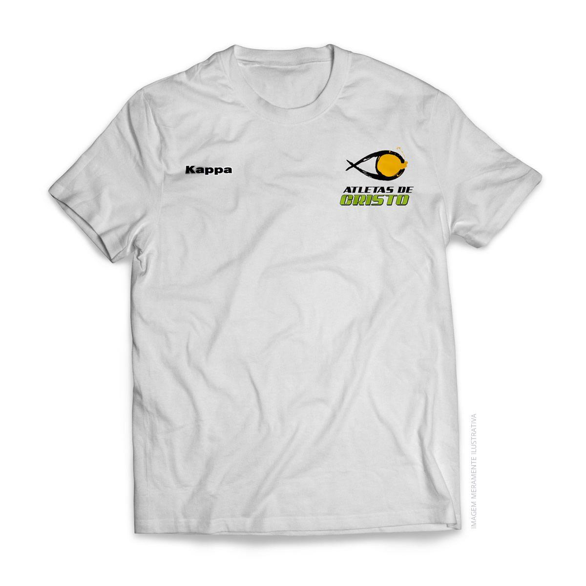 Camiseta Kappa - Atletas de Cristo - Branca
