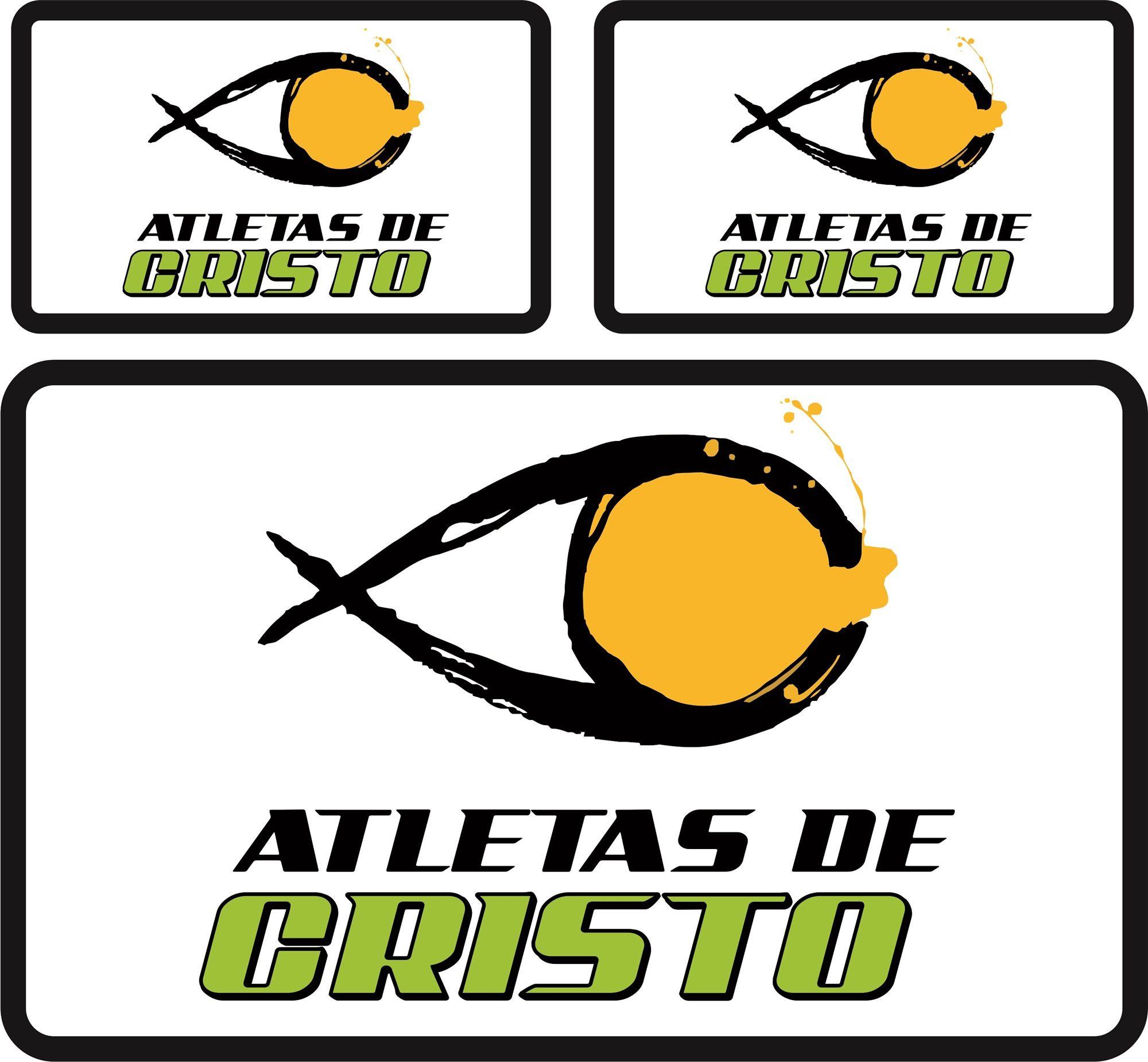 Tarja  Atletas de Cristo - Pequena